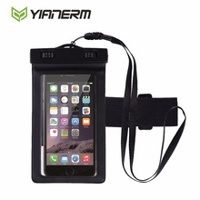 "Yianerm Waterproof Pouch Touch Screen Case Swimming Diving Phone Bag For iPhone 6s 6Plus Samsung S7 S6 Edge up to 5.5""(China)"