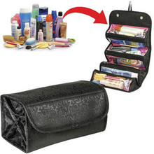 Fashion Cosmetic Roll N Go Cosmetic Bag large capacity Multifunctional Storage package makeup tool bag Jewelry Organizer 2016Hot