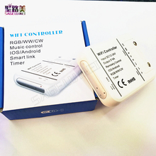 Original 16Million colors Wifi 5channels RGBW/WW/CW led controller smartphone control music and timer mode magic home controller(China)