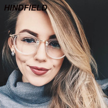 Hot Sale Fake Round Glasses Women Clear Eyeglasses Frame Pink Transparent Frames Reading Glasses Optical Lens Men oculos de grau(China)