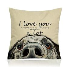 Painted Animals Golden Retriever Dog Decorative Soft Short Plush Throw Pillow Home Sofa Cushion For Children's Gifts