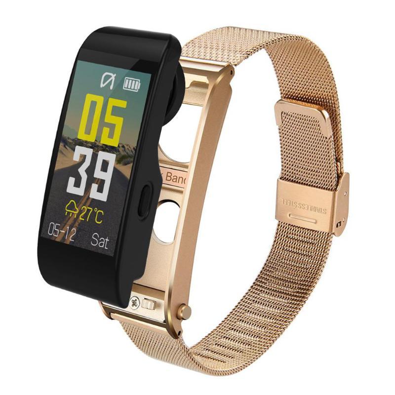 ALLOYSEED Bluetooth Smart Bracelet Watch Handsfree Call Music Player Sport Wristband Headset Fitness Tracker Heart Rate Monitor 17