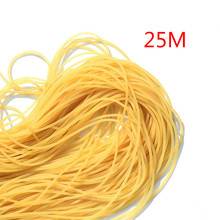 25m Diameter 2mm plain traditional elastic rope tied reinforcement group solid elastic rubber band strapping tool fishing line