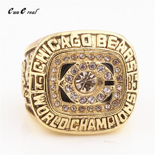 USA 8 to 14 Size 1985 Chicago Bear Super Bowl Rugby Champion Rings / Men's Sports Fan Series Gifts Quick Shipping(China)