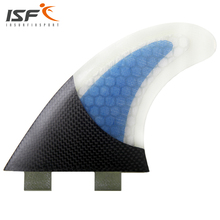 Hot sale fiberglass honeycomb blue surfboard fins thruster Quilhas FCS fins SUP fins pranchas de surf fins G5(China)