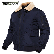 TACVASEN Men Bomber Jacket Thick Winter Parkas Military Tactical Jacket US Army Pilot Jacket Coat Motorcycle Wear TD-DSPD-002(China)