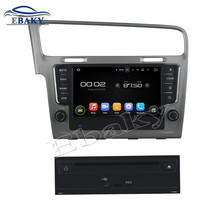 Top Car Styling 1024*600 Quad Core 16G 8inch  Pure Android 5.1.1 Car DVD Player for VW Golf 7 2013 with GPS Navigation Brand new