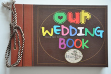 free shipping photo album our wedding book & adventure book Loose-leaf Notebook photo album best gift for lover & wedding