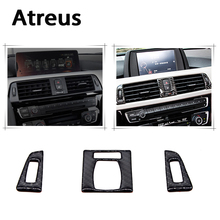 Buy Atreus BMW F30 F35 Accessories 3Series GT 320i Carbon Fiber Console Button Frame Interior Decorative Stickers Car Styling for $9.99 in AliExpress store