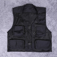 2017 Hot Size M-XXL Men's Spring Summer Outdoor Vest Tops Travel Hiking Fishing Photography Mesh Fishing Vest Men Pockets Jacket(China)