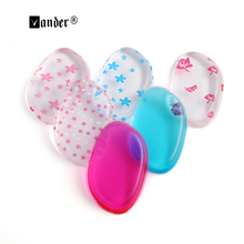 1pcs Jelly Powder Puff Red/Blue/Pink Silicone Gel Sponge For Face Foundation BB Cream Cosmetic Makeup Tool(China)