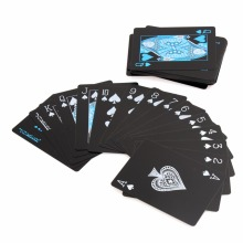 55pcs/deck poker waterproof plastic pvc playing cards set pure color black poker card sets classic magic tricks tool