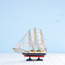 Exquisite Handmade Wooden Sailing Boats Retro ship model pirate sailboat Birthday gift souvenirs for kids Home Decor FCMX