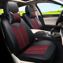 Luxury Car Seat Covers Cars Styling For Subaru Legacy 2006 2008 2010 Seats Protector PU Leather Fabric Cover Set