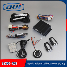 One way car alarm and DC 12V voltage security  car alarm with PKE keyless entry