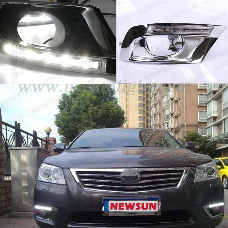 Factory supply top quality led headlight daytime running lights 12V 6W led DRL for Toyota Camry 2009<br><br>Aliexpress