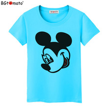 BGtomato factory store cheap price women t-shirts brand new good quality clothes Wholesale cartoon shirts drop shipping(China)