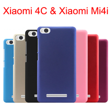 for Xiaomi 4c phone cover protective case for Xiaomi Mi4i 5.0'' ultra-thin matte frosted Hard Back 8 colors Pouch Bags Discount(China)