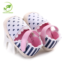 Baby Girl Shoes Striped Heart Printed Princess First Walker Kids Shoes White Bottom Prewalkers Cartoon Animation Cork Baby Shoes(China)