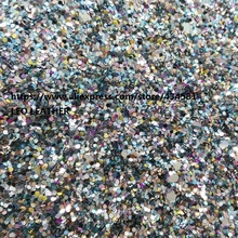 Mixed Color Chunky Glitter PU Leather for DIY accessories wallpaper handbags and shoes P1143(China)
