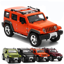 Jeep Wrangler Off-road Vehicle Car-styling Simulation Alloy Cars 1:32 Scale Collection Diecast Metal Auto Model Toy for Children