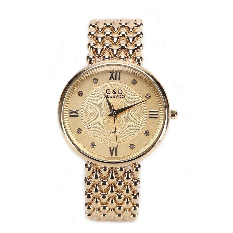 GLE&amp;VDO Womens Simple Relogio Feminino Dourado Bracelet Watch Quartz Wristwatch Gift Free Ship<br><br>Aliexpress