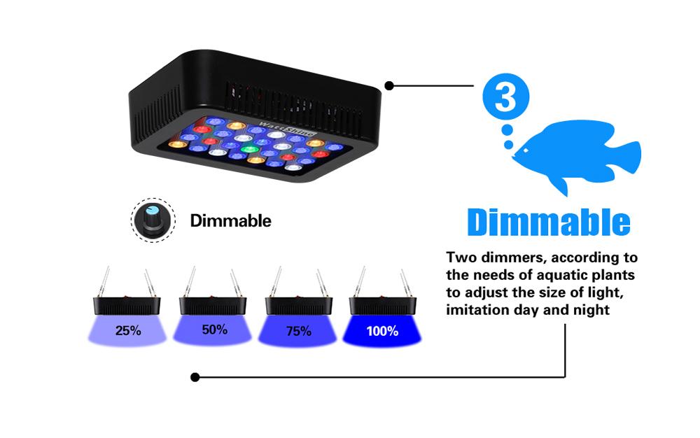 Aquarium led lighting Dimmable lamp Fish bowl light Marine Fish tank Coral lights High brightness Penetrating strong FCC CE ROHS (16)
