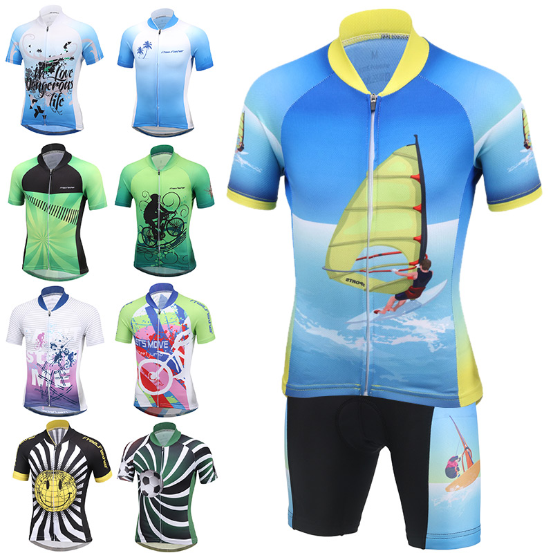 Children Cycling Clothing Boys Girls Short Sleeve Jersey with Pad Shorts Sets Bike Team MTB ropa ciclismo Kids Sportwear Maillot<br>