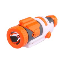 Partie modifié Tactique lampe de Poche pour Nerf Elite Série-Orange + Gris(China)
