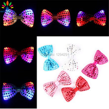 Okylighting 5 PCS LED Luminous Neck Bow Tie Colorful Flashing Bow Tie Party Wedding Dancing Stage Glowing LED Glowing Ties
