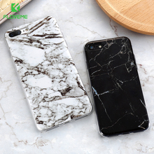 FLOVEME Marble Case For iPhone 8 7 For iPhone 8 7 Plus Mobile Phone Cover For iPhone 6 6S Plus 5 5S SE Silicon Coque Bag Capa