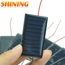 10Pcs/Lot Mini Solar Panel 5V 30mA Solar Cells Photovoltaic Panels Module Sun Power Battery Charger For DIY Study Toy Charger(China)