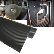 300X55cm 3D carbon fiber vinyl film/ carbon fibre sticker black/white color option car sticker 3D carbon wrap