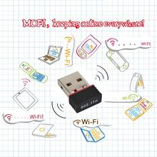 Mini USB WiFi LAN Adapter 150Mbps Wireless Network Card For Laptop 802.11n/g/b wi-fi wi fi adapter antenna Hot selling
