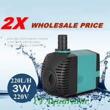 2PCS /LOT Fish Mini Submersible Water Pump 220V Aquarium Quiet fountain pump for Pond Pool Garden Irrigation