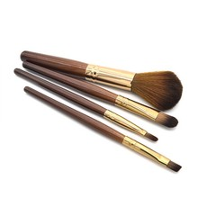 New Women Professional 4 pcs Makeup Brush Set tools Comestic Toiletry Kit Wool Brand Make Up Brush Set for Beauty H5