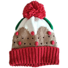 New Winter kids Adult hat Lovely cupcakes modelling children embroidery delicious cake ice cream hat knitted hat Winter warm Cap(China)