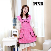 Household Cleaning Kitchen Accessories Korean Nail Salons Overalls Cute Princess Aprons Pink Cooking