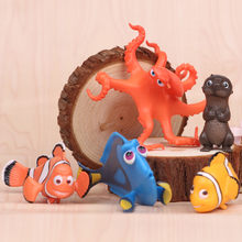 5pcs/lot 3.5-5.5cm PVC Finding Nemo Action Figure Model, Hot Cartoon Movie Nemo & Dolly Anime Brinquedos, Kids Toys