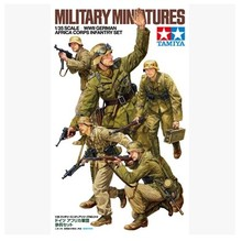 Tamiya assembled soldiers model 35314 1/35 World War II German soldiers of the African army infantry soldiers