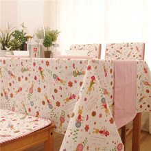 New Arrival Tablecloth Cotton+Linen Cartoon rabbit  Dining Table Cloth Thick 70*70cm 90*90cm 140*140cm 8 Sizes Can be customized