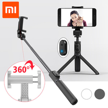 Original Xiaomi Handheld Mini Foldable Tripod 2 in 1 Monopod Selfie Stick Bluetooth Wireless Remote Shutter for Android & Iphone(China)