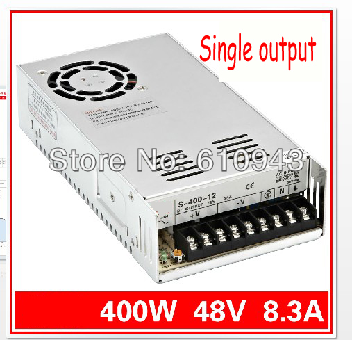 S-400W-48V 8.3A  Single Output Switching power supply for LED SMPS AC to DC<br><br>Aliexpress