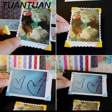 TUANTUAN 1 Sheet=102 pcs DIY Album decoration Scrapbook Paper baby wedding picture holder photograph sticky note corner sticker