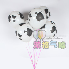 15pcs 3.2g 12 inch  Cow Printing Latex Balloon Helium farm cow animals Ball For Birthday Cowboy /Cowgirl western Party Decor