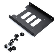 2.5 inch SSD HDD To 3.5 inch Metal Mounting Adapter Bracket Dock Case Caddy Black for PC SSD EM88(China (Mainland))