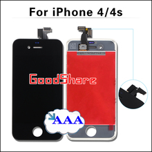 Competitive AAA For iPhone 4/4s Screen Assembly Touch Digitizer LCD Display for iphone4 Frame Pantalla Replacement Black/White