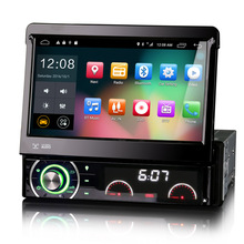 "7"" Android 6.0 OS 1 Din Car Multimedia Radio One Din Car DVD Single Din Car Navigation GPS with External TPMS Module Input(China)"