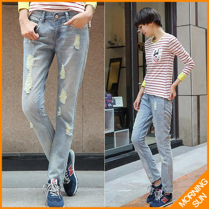 free drop shipping new arrival 2017 spring autumn cotton slim skinny denim blue tight pencil long design pants women jeans #251Одежда и ак�е��уары<br><br><br>Aliexpress
