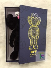 "16"" 40cm 2016 Kaws Thailand Bangkok Exhibition Sesame Street Kaws BFF Plush Doll Toy Collections with retail box(China)"